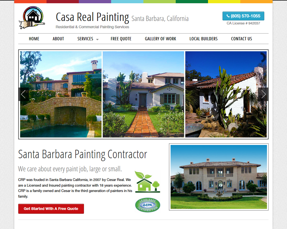 Casa Real Painting Website